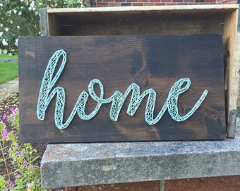 MADE TO ORDER Script Home String Art Board