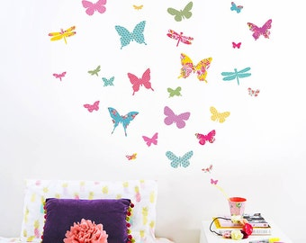 Shanghai Butterfly Wall Stickers (fabric decals, not vinyl)