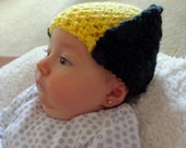 Wolverine Baby Hat, Hand Crochet X-Men Infant Halloween Costume or Christmas Gift or Baby Shower Gift