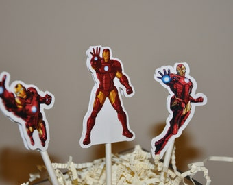 Ironman Cupcake Toppers Set of 12