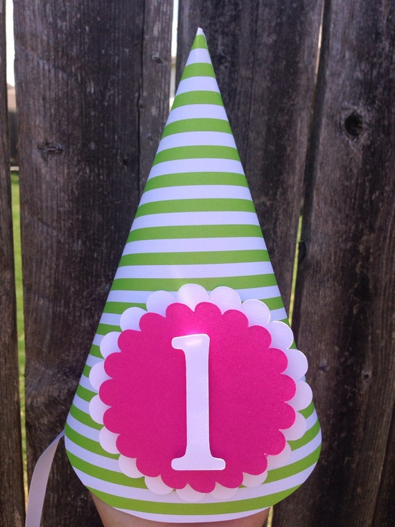 Party Hat, First Birthday Party Hat,