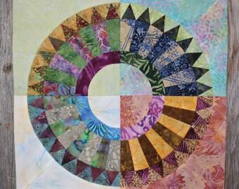 New York Beauty Quilt Block Paper Piecing Pattern - Block T