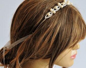Wedding headband, Wedding Headpiece, Rhinestone Headband, hairband, Weddings, Bridal Headband, Bridal Headpiece, Accessories, Wedding, gift