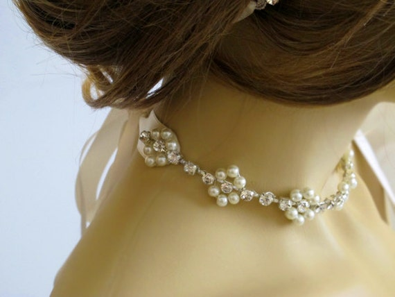Wedding Gift Jewelry Suggestions : wedding Choker necklace Bridal necklace Rhinestone and