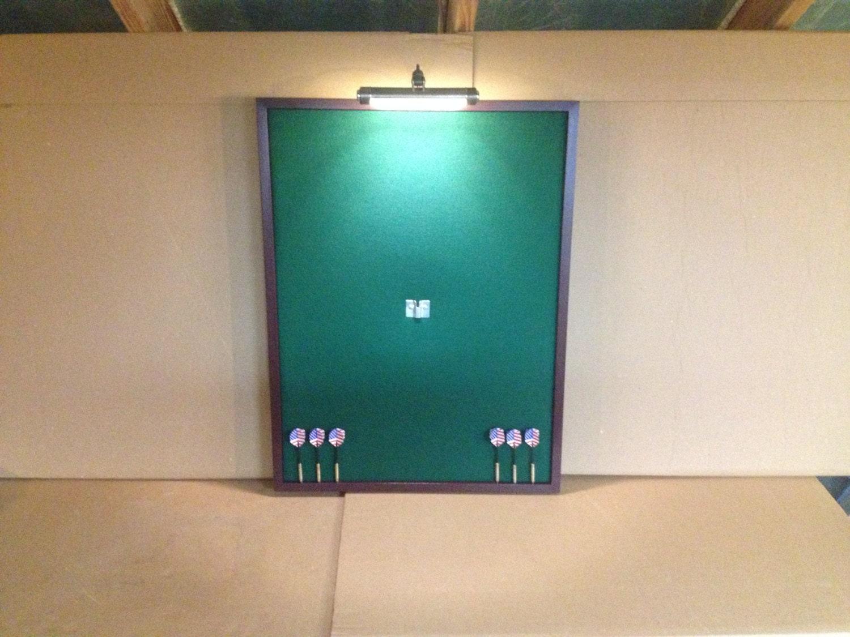 Dart Board Cabinet With Chalkboard