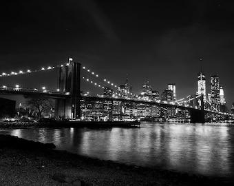 New York Photography, New York print, Brooklyn Bridge Print, New York Photograph, Bridge Photography, Bridge Print,  New York Skyline, Dumbo