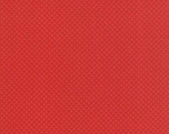 Half Yard - 1/2 Yard - Scallops Red - NECO by MOMO for Moda