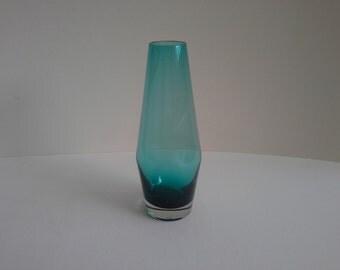 Scandinavian Turqouise Green Blue Glass Vase