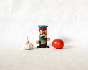 Salt pepper containes Soviet Vintage USSR Rustic wooden  Kitchen decor Russian design organizer Unique Gift