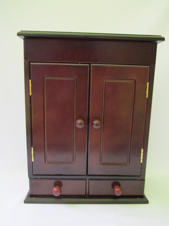 wood jewelry chest wood jewelry box armoire mens jewelry