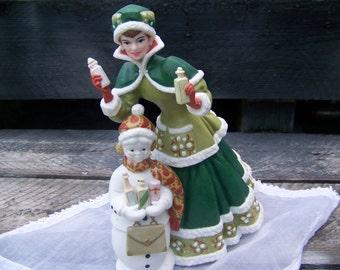 Avon President's Award Collectible Figurine & Dome Figurine Set