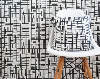 Almedahls Scandinavian Swedish Monochrome mid century fabric  - Available per meter - Pickepin