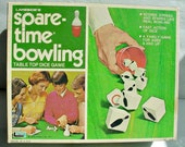 Spare Time Bowling Game, Vintage Board Game, Family Game Night, 1970s Dice Game, Dice Bowling, Collectable Game