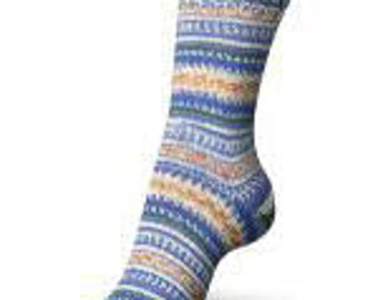 Regia 4-ply Design Line Sock Yarn by Arne & Carlos Color #3656 Moon Light Regular Price is 9.50