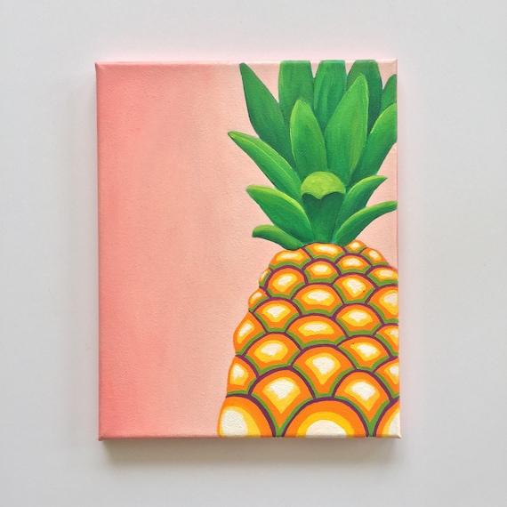 Colorful Kitchen Wall Art: Pineapple Decor Colorful Wall Art Tropical Art Pineapple