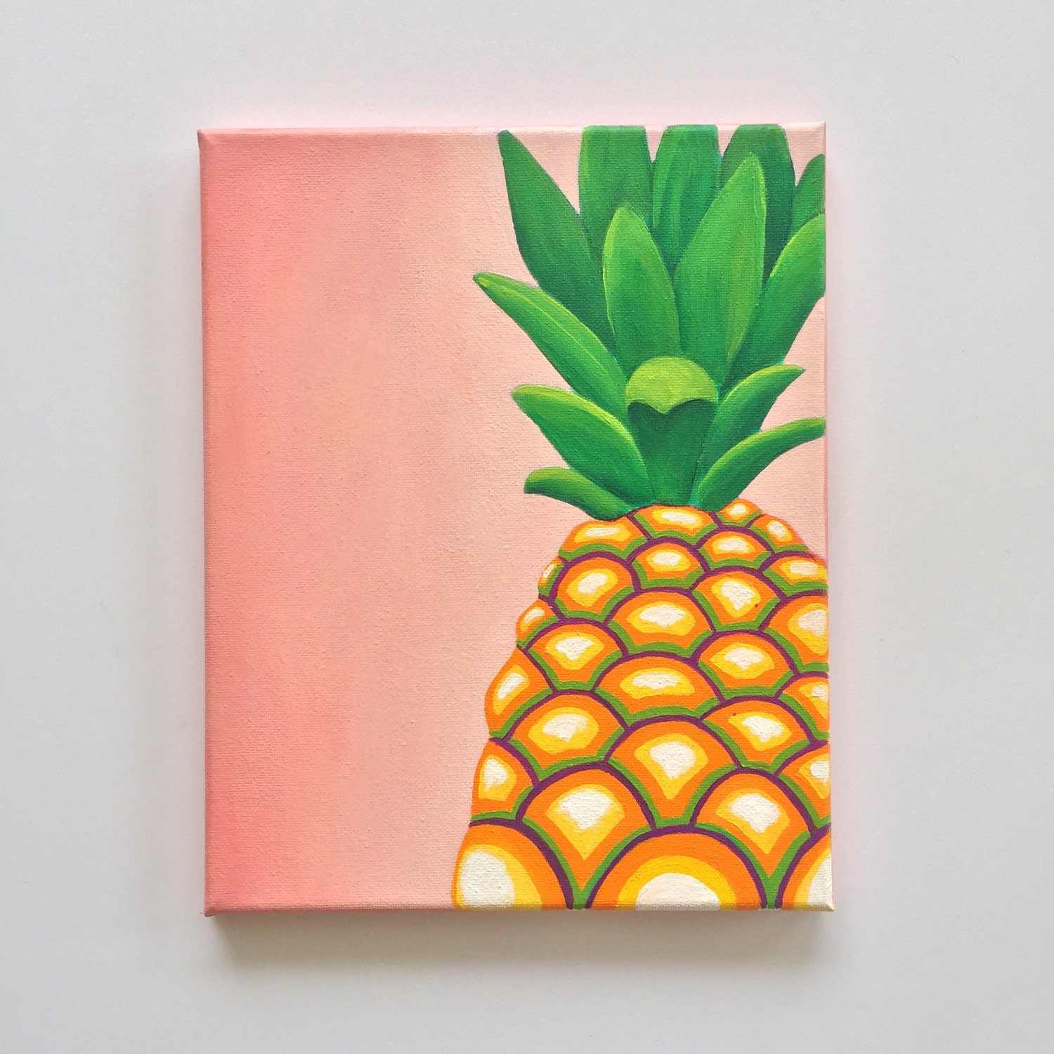 Pineapple decor colorful wall art tropical art pineapple Colorful wall decor