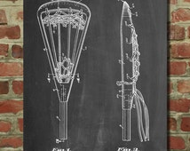 Lacrosse Stick 1936 Patent Poster, Lax, Lacrosse Art, Lacrosse Gifts, PP915