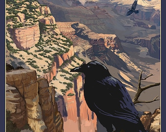 Grand Canyon National Park - Ravens at South Rim (Art Prints available in multiple sizes)