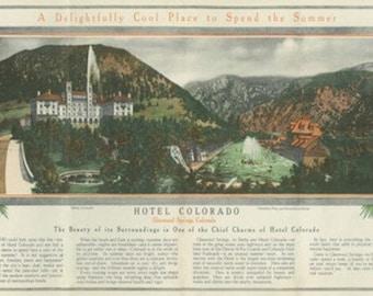 Glenwood Springs, Colorado - Hotel Colorado Brochure (Art Prints available in multiple sizes)