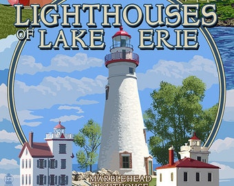 Ohio - The Lighthouses of Lake Erie (Art Prints available in multiple sizes)