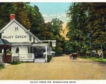 Philadelphia, Pennsylvania - Valley Green Inn, Wissahickon Drive Scene (Art Prints available in multiple sizes)