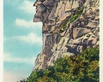 New Hampshire - Franconia Notch State Park View of the Old Man of the Mts (Art Prints available in multiple sizes)