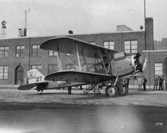 Airmail Plane at Boeing Field Photograph (Art Prints available in multiple sizes)