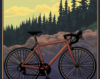Sequoia National Park - Bike and Trail (Art Prints available in multiple sizes)