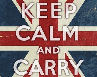 Union Jack - Keep Calm and Carry On (Art Prints available in multiple sizes)
