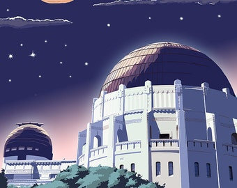 Griffith Observatory at Night - Los Angeles, California (Art Prints available in multiple sizes)