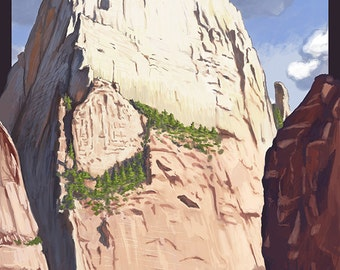 Great White Throne - Zion (Art Prints available in multiple sizes)