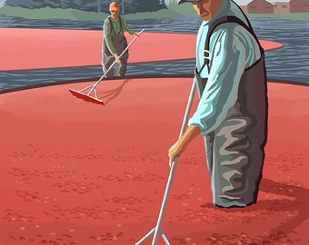 Grayland, Washington - Cranberry Harvest (Art Prints available in multiple sizes)
