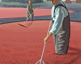 Cranberry Bogs Harvest - Coos Bay, Oregon (Art Prints available in multiple sizes)