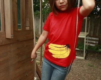 KIDS BANANA T-shirt, American Apparel Size 2, 4, 6, 8, 10, 12
