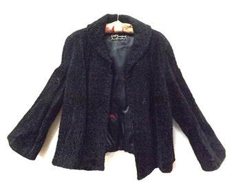 Vintage Boucle Evening Jacket Size Medium