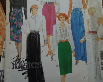 McCalls 2824, Size large or sizes 18-20, misses, womens, skirt, UNCUT sewing pattern, craft supplies, evening wear.