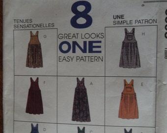 McCalls 8395, Size 16-20, misses, womens, UNCUT sewing pattern, Jumper, craft supplies