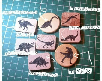 3 Dinosaur Brooches