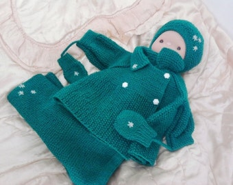 hand made knitted set for newborns