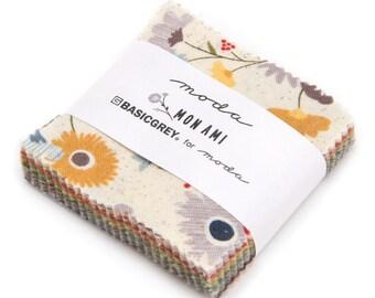 "Mon Ami Mini Charm by Basic Grey for Moda, 42 - 2 1/2"" squares"