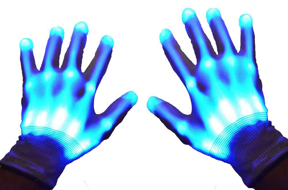 Light Up Led Skeleton Gloves
