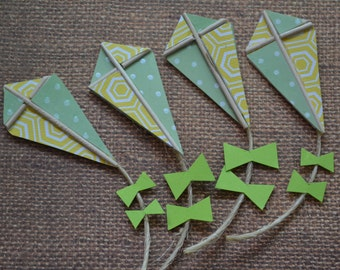 Paper Kite Embellishments, Scrapbooking, Craft Supplies, Handmade | 6 Pieces