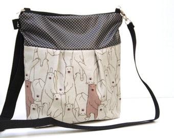 Bear Messanger Crossbody Bag, Waterproof Everyday Bag, Travel Purse, Sling Bag, Shoulder Purse, Cross Body Sling Bag,Travel Handbag