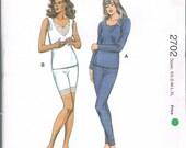 UNCUT Size XS-XL Misses' Two Piece Long Underwear Sewing Pattern - Long Johns Pattern - Kwik Sew 2702