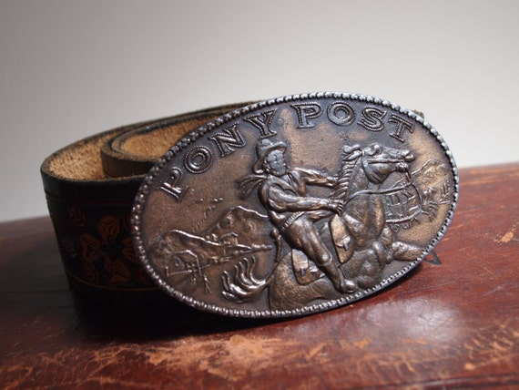 pony post western style leather belt