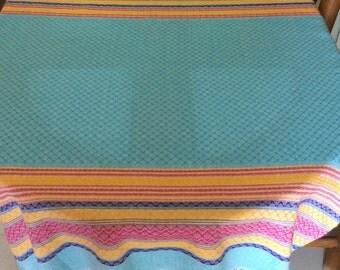 Mexican tablecloth - blue
