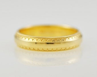 ArtCarved Serenity 14k Yellow Solid Gold Band size 10