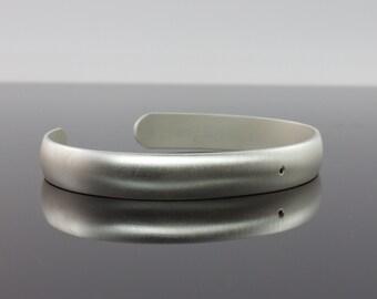 Black Diamond Bracelet - Matte Finish Sterling Silver Cuff Bracelet -  Modern Promise Bracelet - Flush Set Genuine Diamond