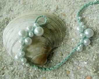 Sea Foam Pearl Bracelet (Aqua Reef)