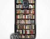 Galaxy / Note 4 Case - Book Shelf Vintage Library Bookshelf Books - Galaxy S3, S4, S5, S6, S6 Edge Cover - id: 26022